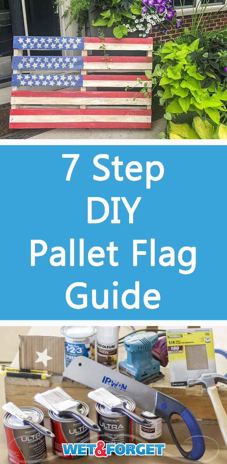 Create a pallet flag to display for Memorial Day or the 4th of July with our step-by-step tutorial!