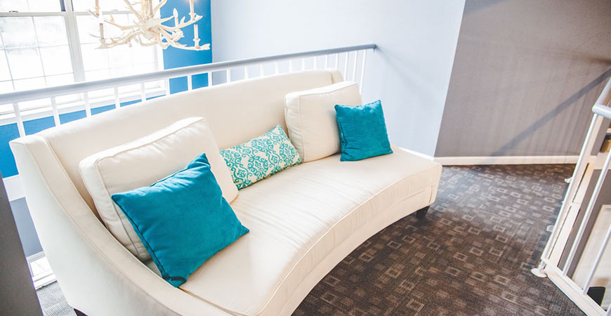 Pull colors from a pattern and incorporate it in the rest of the space.