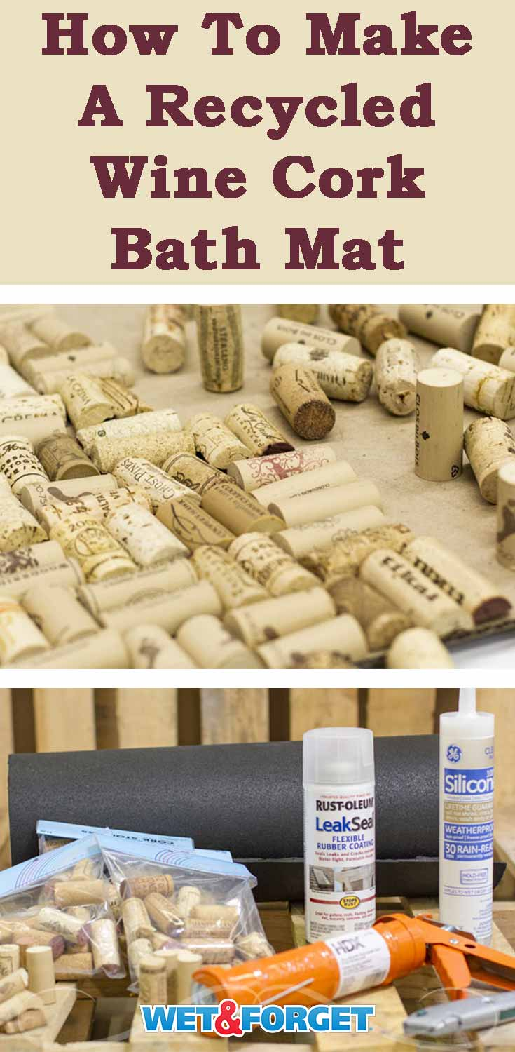 Update your bathroom with a new bath mat! Follow our step-by-step instructions to make your own recycled wine cork bath mat!