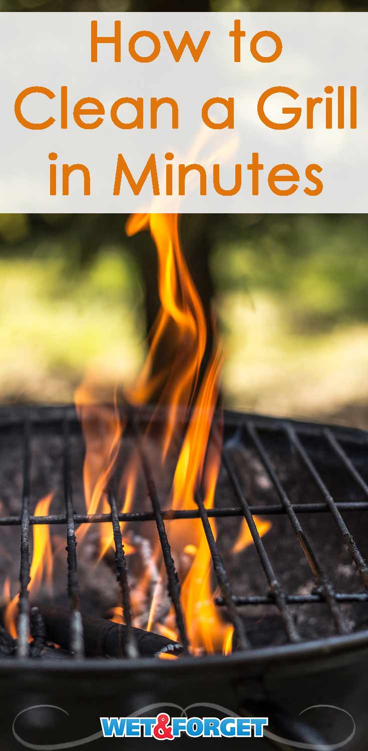 Grilling season is in full swing! Clean your grill in minutes with this quick process.