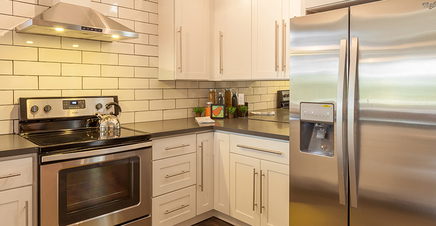 Subway tile as kitchen backsplash