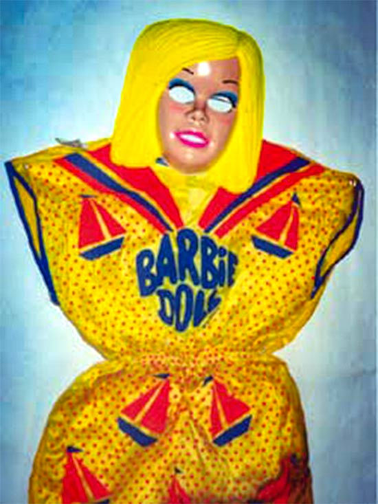 Barbie doll costume from the 1970s