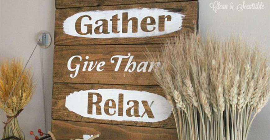 This rustic sign is the perfect addition to any side table in your home.