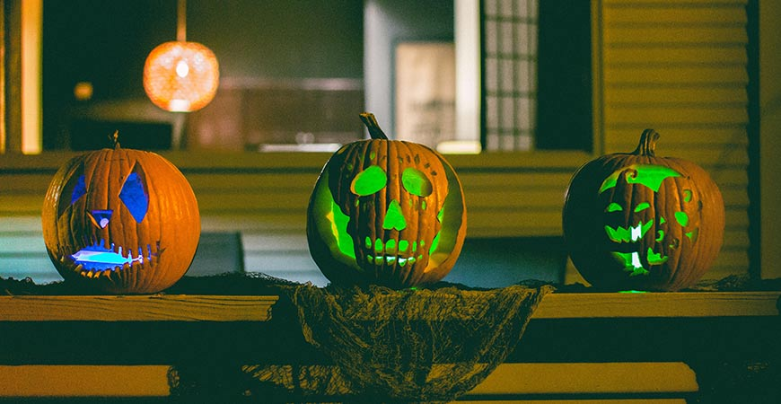 Illuminate your pumpkin with glow sticks for an eerie look!