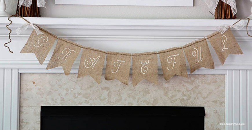 Make this rustic banner to welcome guests into your home.