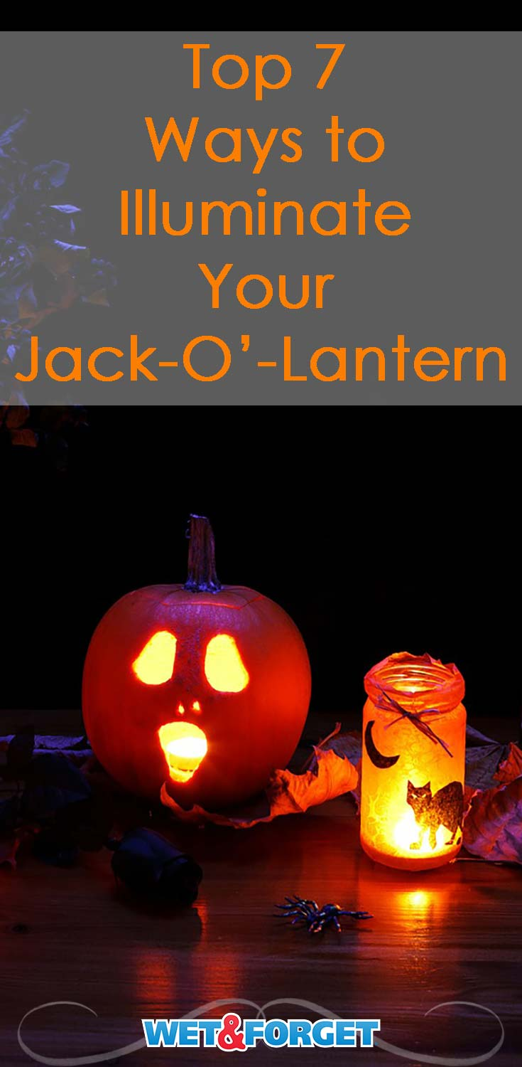 Jack-O'-Lantern carving season is here! Check out these 7 different ways to illuminate your carved pumpkin at night.