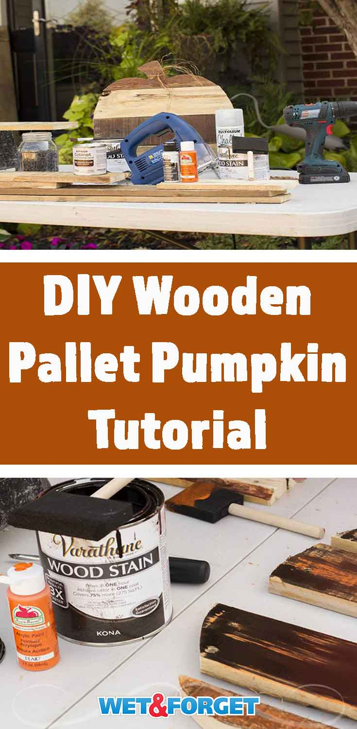 Feeling crafty this weekend? Make a wooden pallet pumpkin with our step-by-step tutorial!
