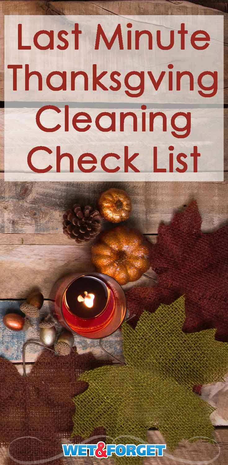 Running out of time to clean for Thanksgiving? Don't fret! Cleaning can be easy when following this quick checklist.