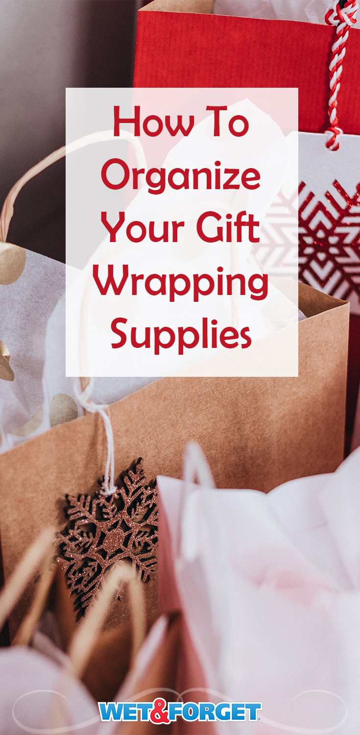 Starting to wrap your gifts this holiday season? Make sure your gift wrapping supplies are nice and organized to avoid overbuying existing supplies.