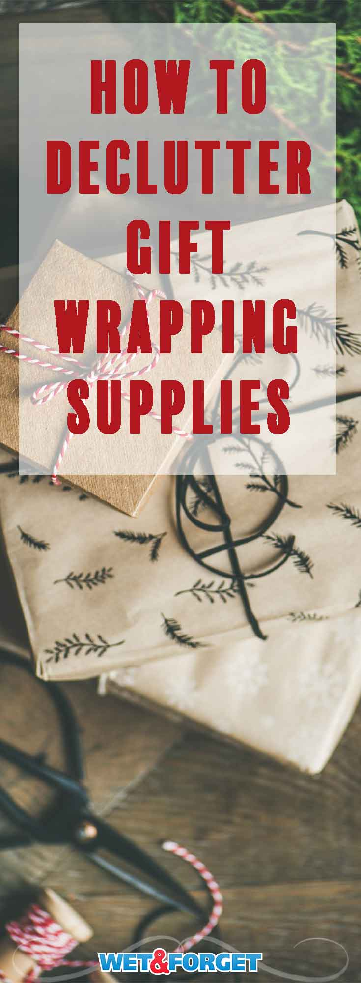 Gift wrap can accumulate quickly over the holidays! Declutter and organize your gift wrap with these DIY methods.