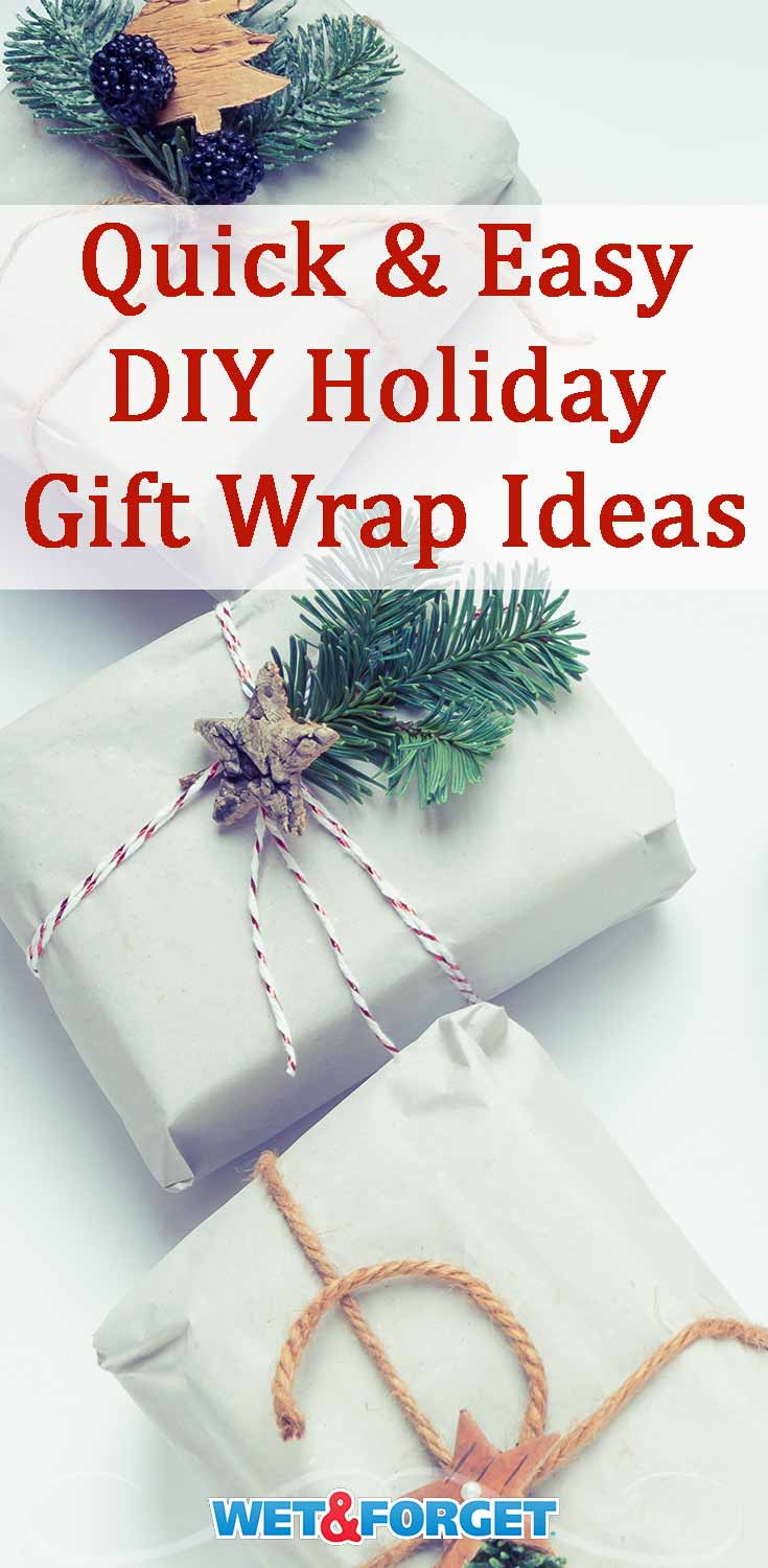 Dress up your holiday gifts by using one of our favorite DIY gift wrap ideas!