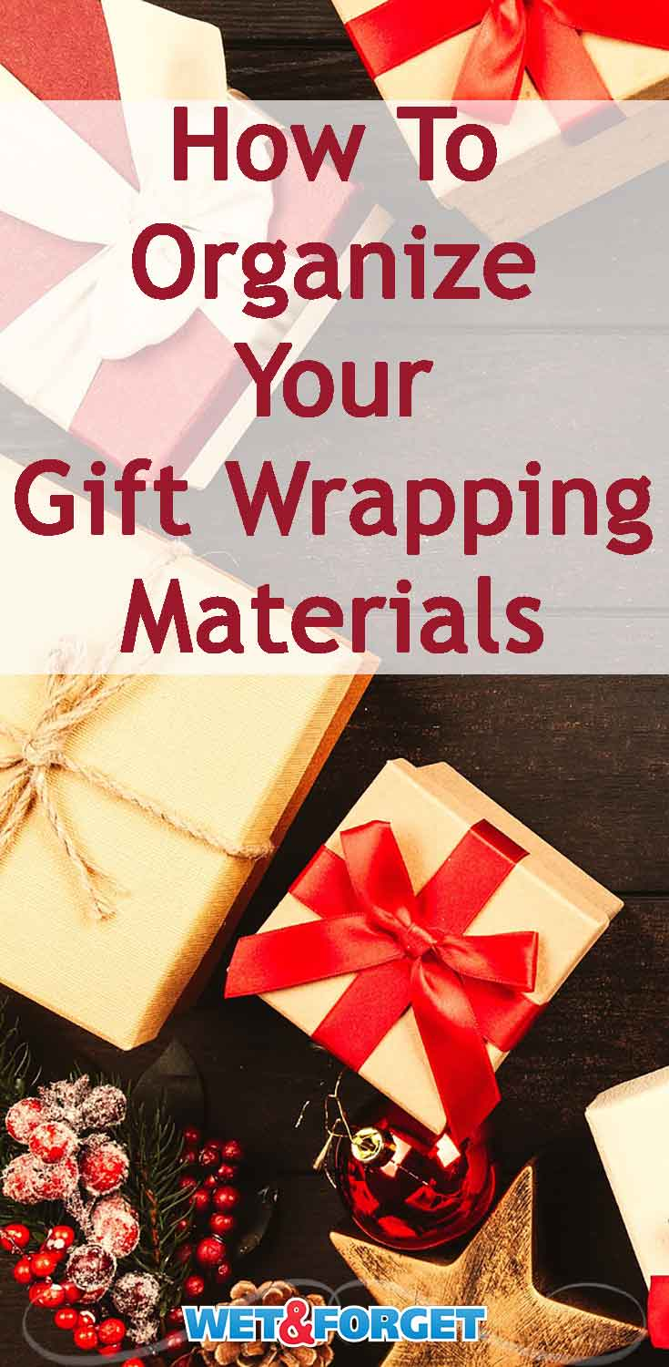 Are your gift wrapping materials taking over your closet? Get organized for the holiday season with these clever ideas!