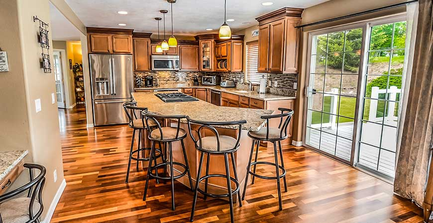 Natural hardwood floors give your home a unique and personal look.