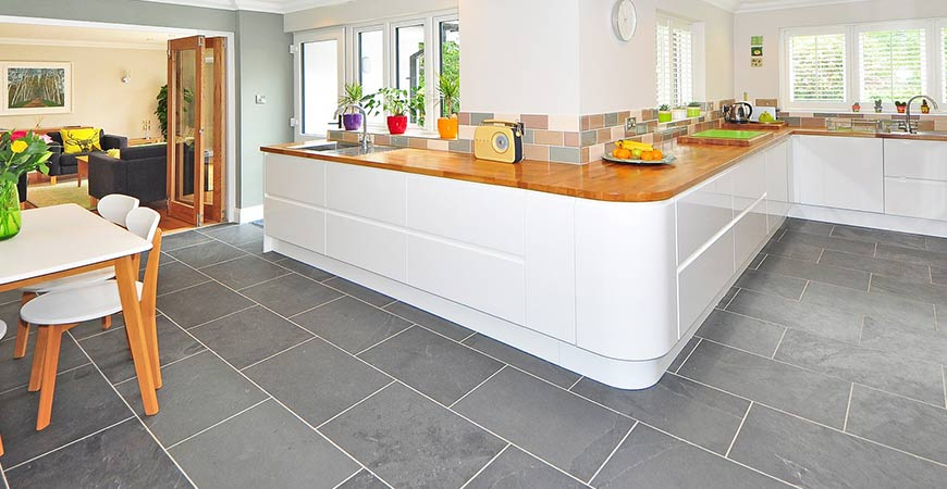 Tile flooring is anothe great option for your kitchen!