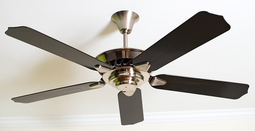 Change the way your ceiling fan rotates to generate more heat in your home.