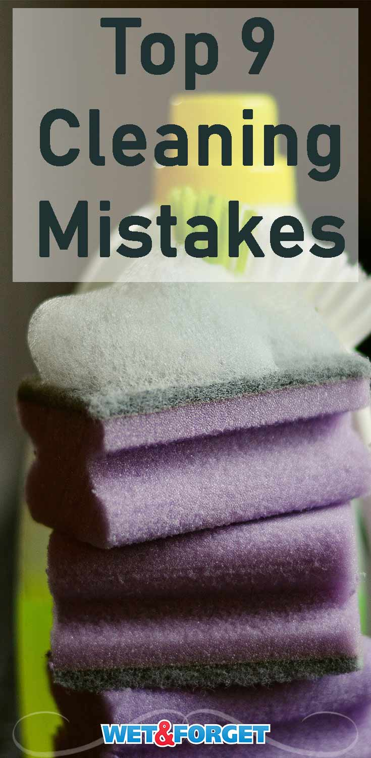 Avoid these cleaning mistakes to make tidying up your house so much easier!
