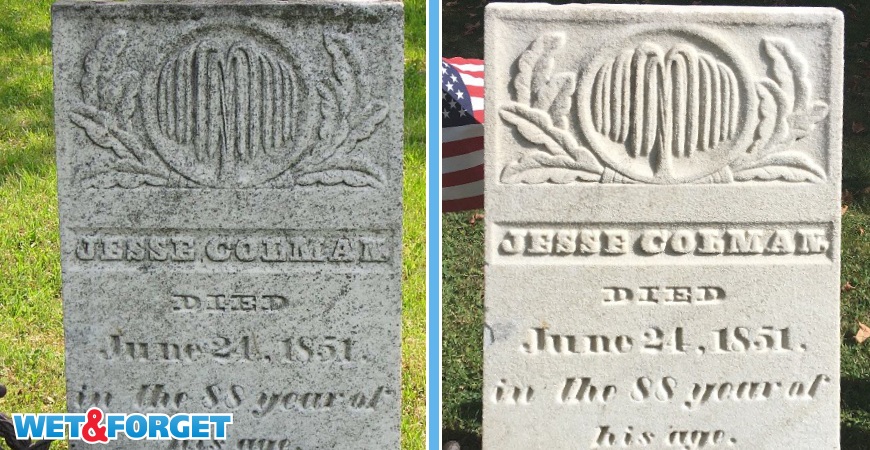 Discover how to clean headstones with a safe and easy method!