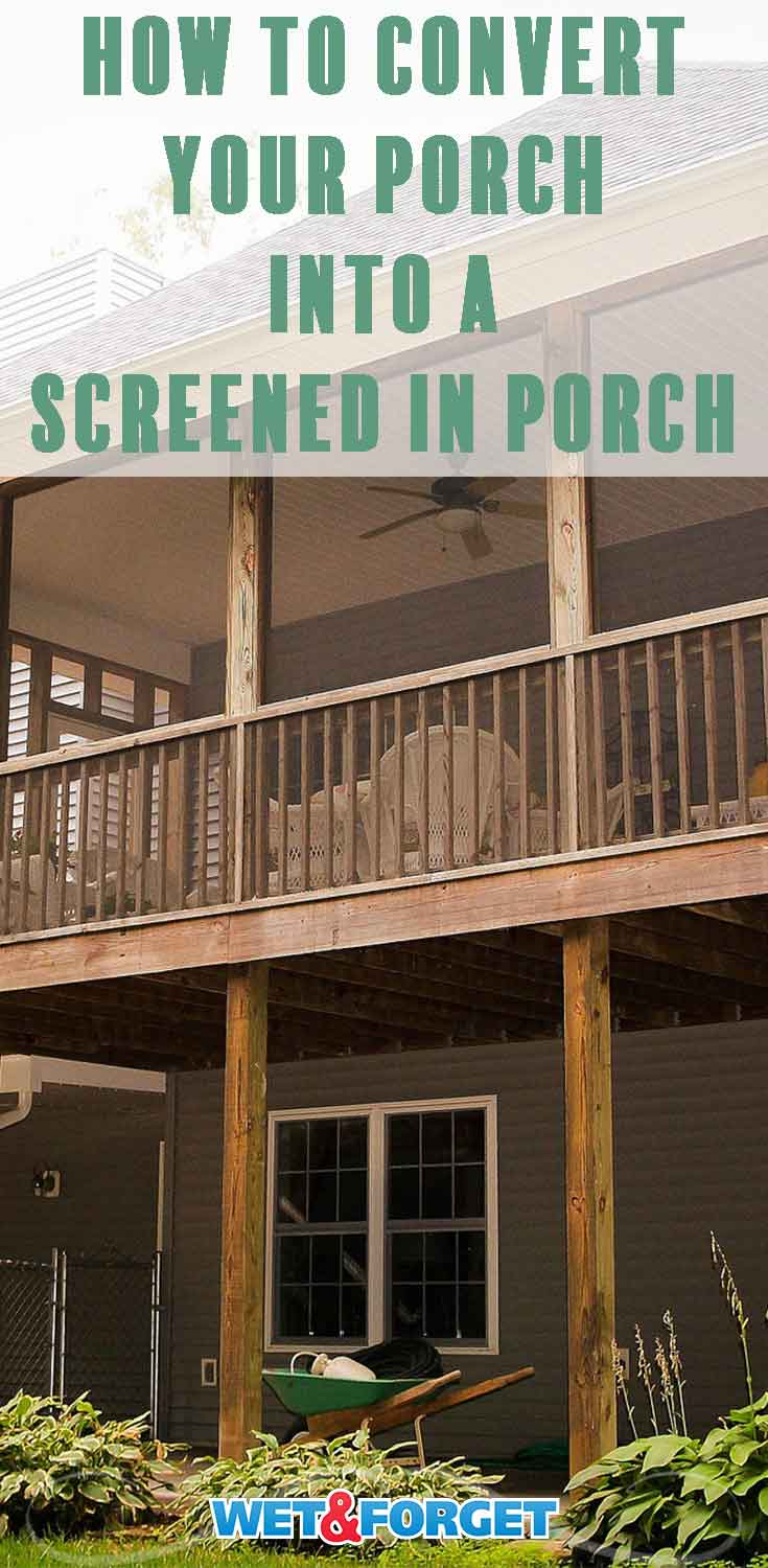 Follow our step-by-step tutorial to make your back porch a screened-in porch!