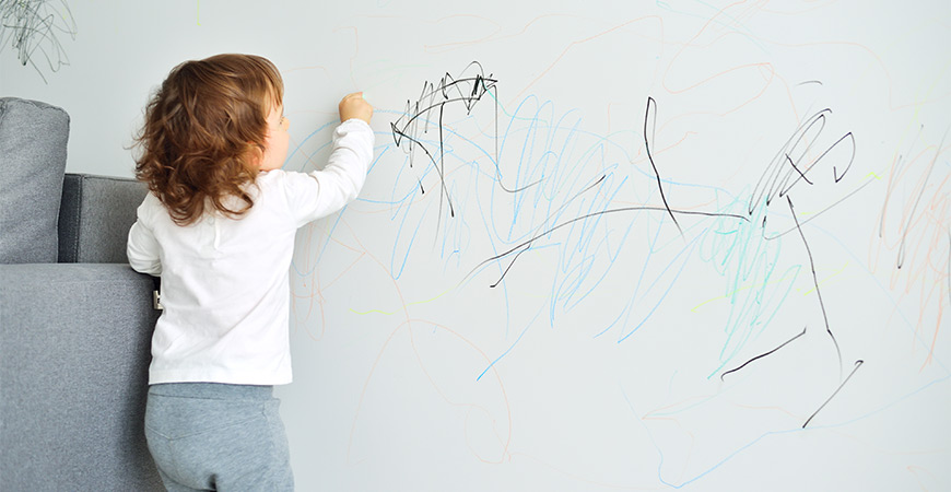 Remove marker stains on your wall with these steps.