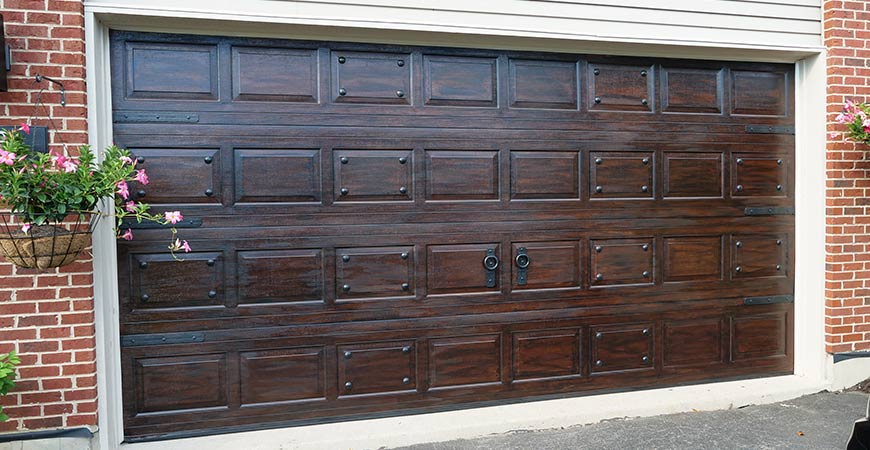 This faux gel stain will upgrade your garage door