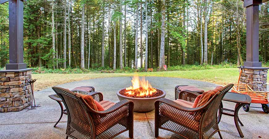 Fire pits make a great addition for cool fall nights