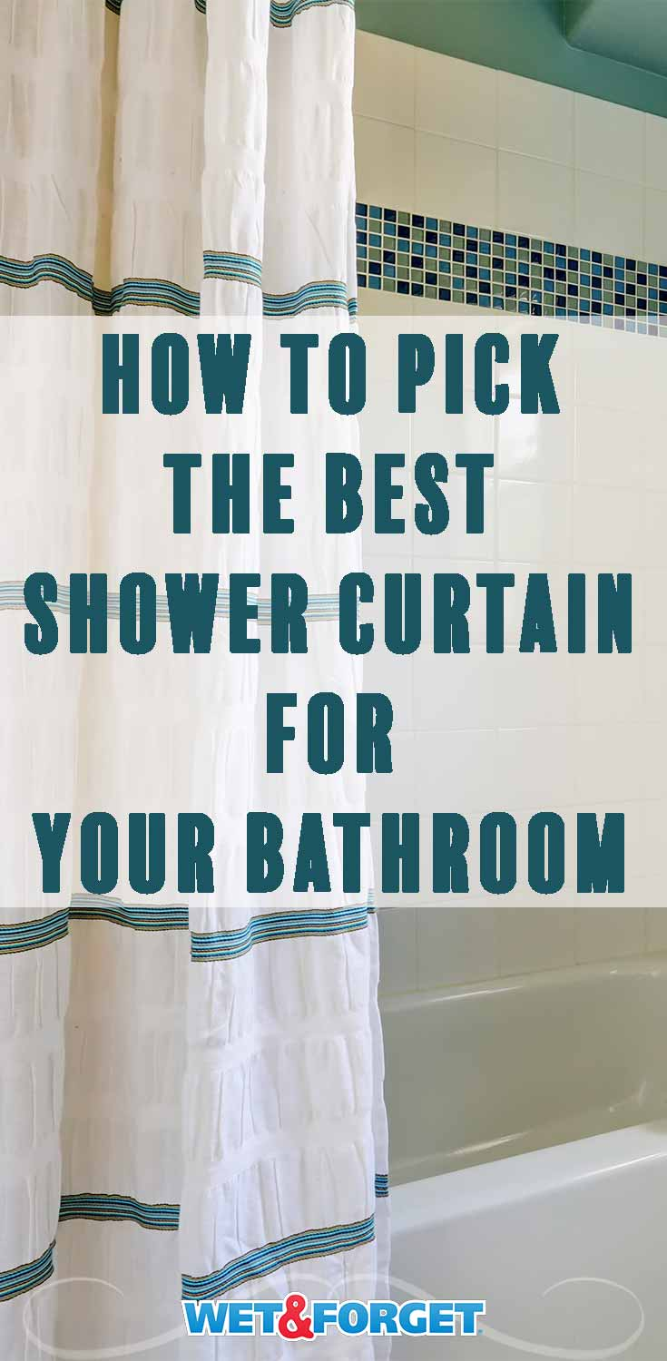 Find the most suitable shower curtain for your bathroom design with our easy to follow guide!