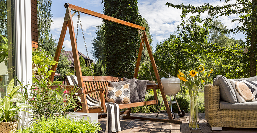 Build furniture for a cozy backyard